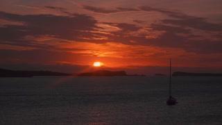 sunset, 4K video, ocean