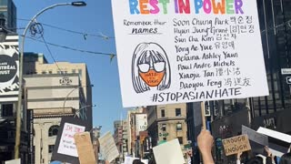Powerful Video From Montreal's Anti-Asian Racism March