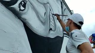 Mural en conmemoración por la muerte de la estudiante de medicina en Bucaramanga