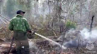 Russia battles Siberian wildfires, forest blaze grows