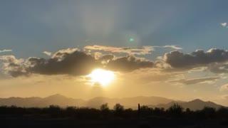 Sunset over Quartzite Arizona