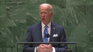 Biden addresses UN General Assembly on pandemic