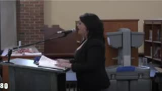 Angry mom criticizing school for poisonous education