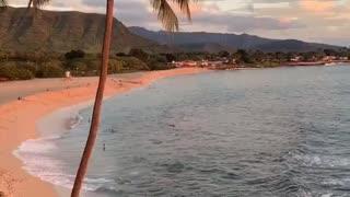Calming sunset in Hawaii. Good night!