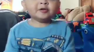 """Kid goes off with """"pew pew pew"""" TikTok video"""