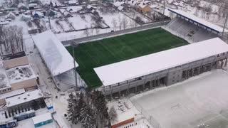Beautiful cold stadium