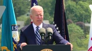 Biden Gets Tongue Tied During Navy Cadet Commencement Speech