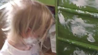 Little Girl Gets Into Diaper Cream