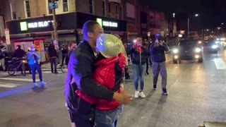 Marriage Proposal in the Midst of Protest