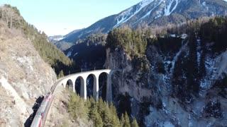 Filisur Train in Switzerland