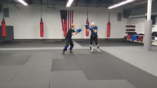Taylor and Andy Sparring Rd 1 Nov 9 2020