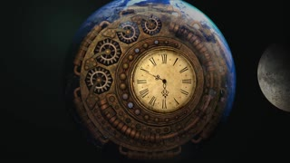 It's a time machine of time. Time, stop~