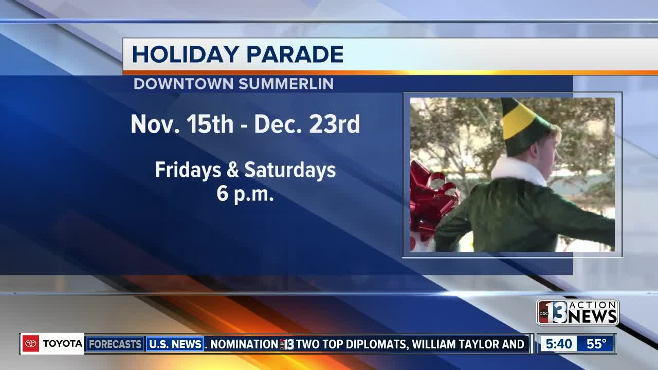 Holiday parade set to take over Downtown Summerlin