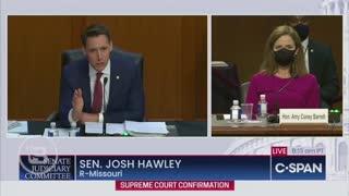 Josh Hawley Open Remark for Judge Barrett