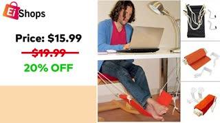 Bealye Portable Adjustable Office Foot Rest Hammock1 on eishops | Foot Rest Hammock