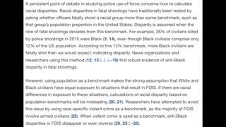 Statistics Debunking Racist Police Narrative Defund The Police