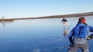Frozen Lake Hockey