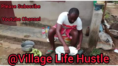 Cooking Fried Fish in the Village