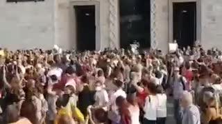 ITALY PROTESTING NO MORE LOCKDOWNS