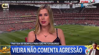 Vieira afasta microfone de jornalista quando questionado sobre assembleia