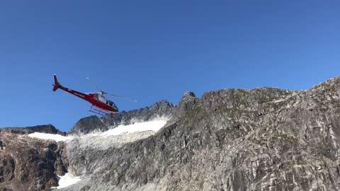 Helicopter on Mendenhall Glacier Alaska