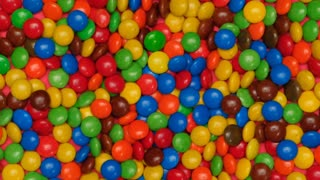 Colorful jumping chocolate