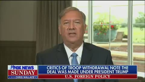 Chris Wallace Shifts Afghanistan Blame to Mike Pompeo