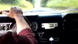 Mustang drive on Irish country roads