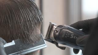 Barber haircut