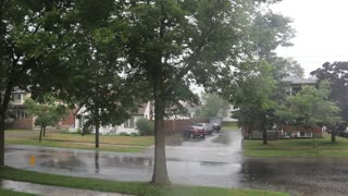 Summer time Storm in kitchener today at noon