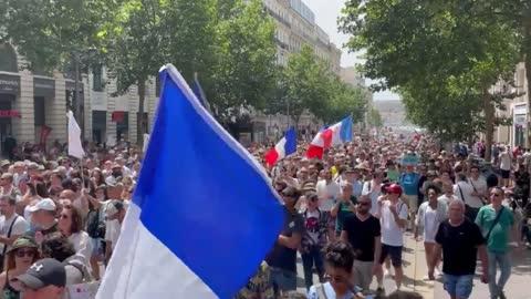 24/07/2021-MARSIGLIA, FRANCIA IMPONENTE MANIFESTAZIONE