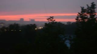 June. Sunrise.