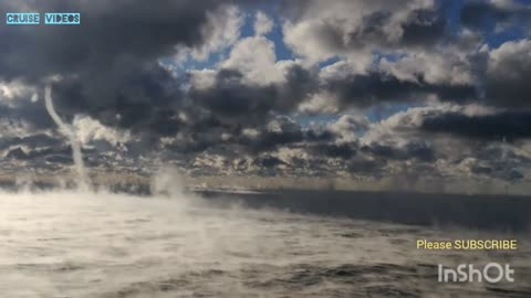 It's magnificent to see the waterspout forming on the sea