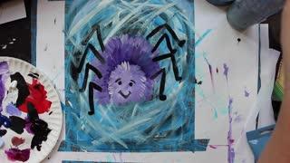 Happy Spider Painting