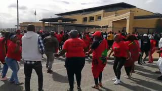 EFF supporters rally outside court to support arrested members