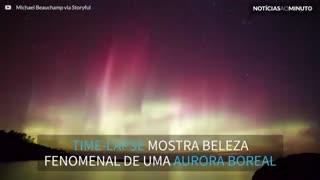 Time-lapse mostra a beleza de uma aurora boreal