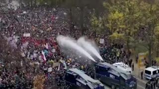 In Germany now Lockdown Protests. November 2020
