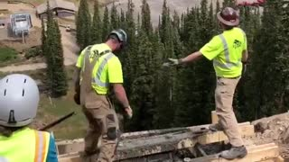 Pouring Concrete Foundations with a Helicopter