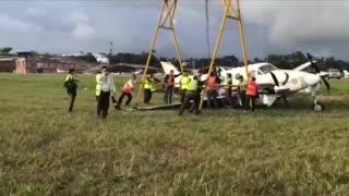 Video: así fue la emergencia por avioneta que se salió de la pista