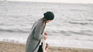 Beach Play For Mother & Child