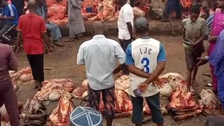 Meat market on africa