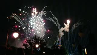 Fireworks from Disneyland