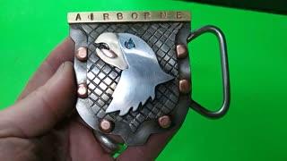 CRAZY! CUSTOM 101st AIRBORNE Opal belt buckle - RT ARTISAN WORKS