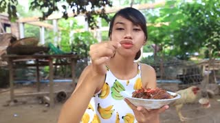Yummy cooking corns recipe _ Cooking skills _ Khmer Survival Skills