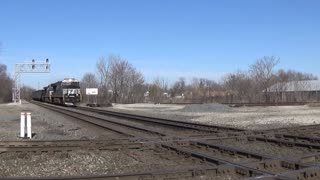 Norfolk Southern Coal Train Pounding The Diamond In Marion