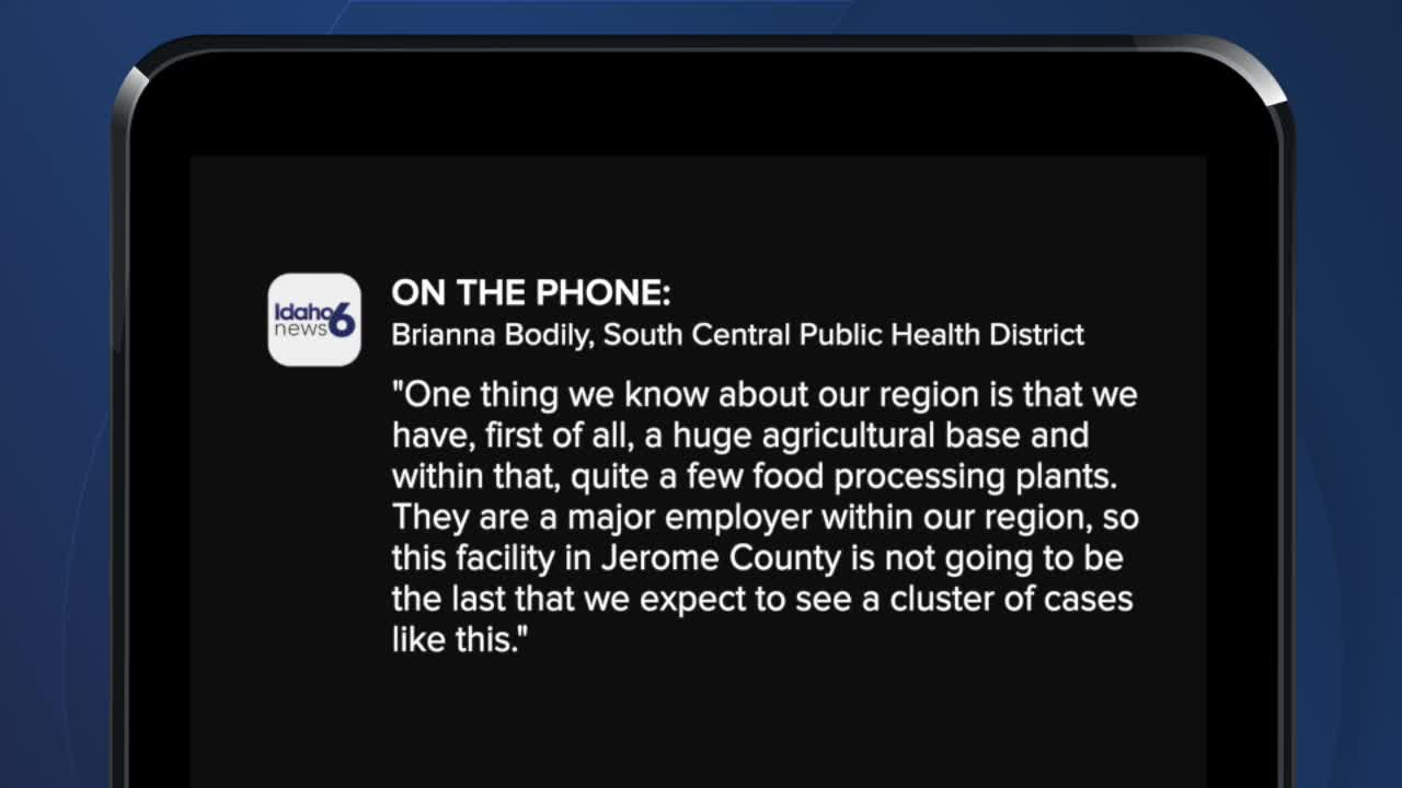 Cluster of COVID-19 cases confirmed in Magic Valley food processing plant