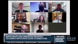 Ohio state senator drives during video meeting