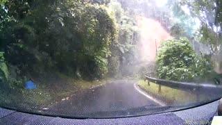 Dashcam Catches Massive Landslide
