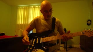 """Playing """"Amazing Grace"""" on my Fender Stratocaster"""