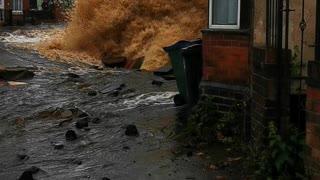 Broken Water Main Causes Major Damage